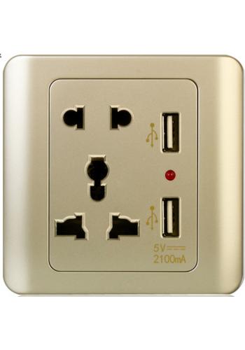 ปลั้กไฟมี USB 5V2.1A outlet...